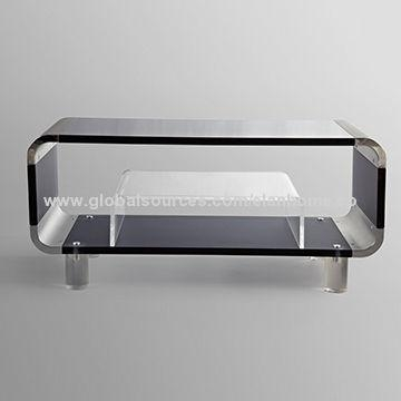Acrylic Tv Stand With Small Coffee Table | Global Sources Throughout Newest Acrylic Tv Stands (Image 3 of 20)