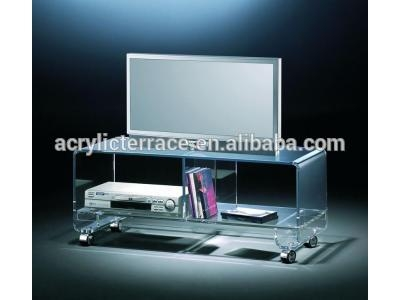 Acrylic Tv Stand With Wheels, Acrylic Tv Stand With Wheels Throughout Most Popular Acrylic Tv Stands (Image 4 of 20)