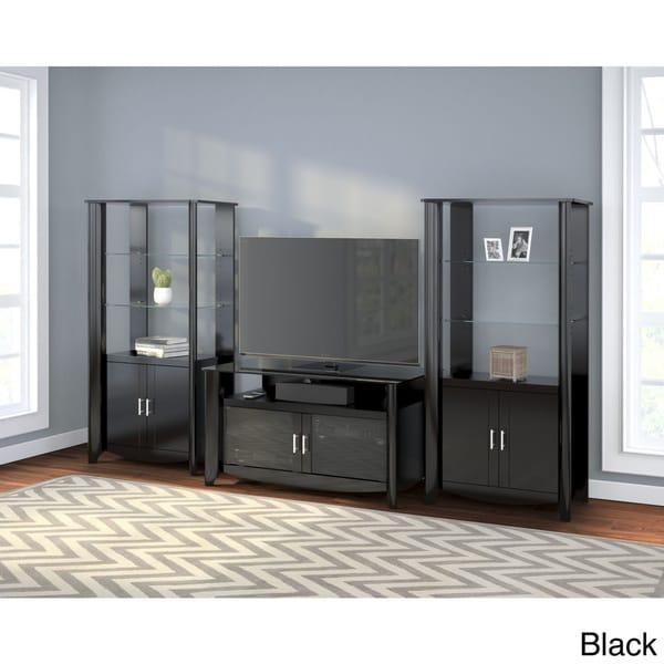 Aero Tv Stand And Set Of 2 Tall Library Storage Cabinets With Regarding Most Recently Released Storage Tv Stands (View 19 of 20)