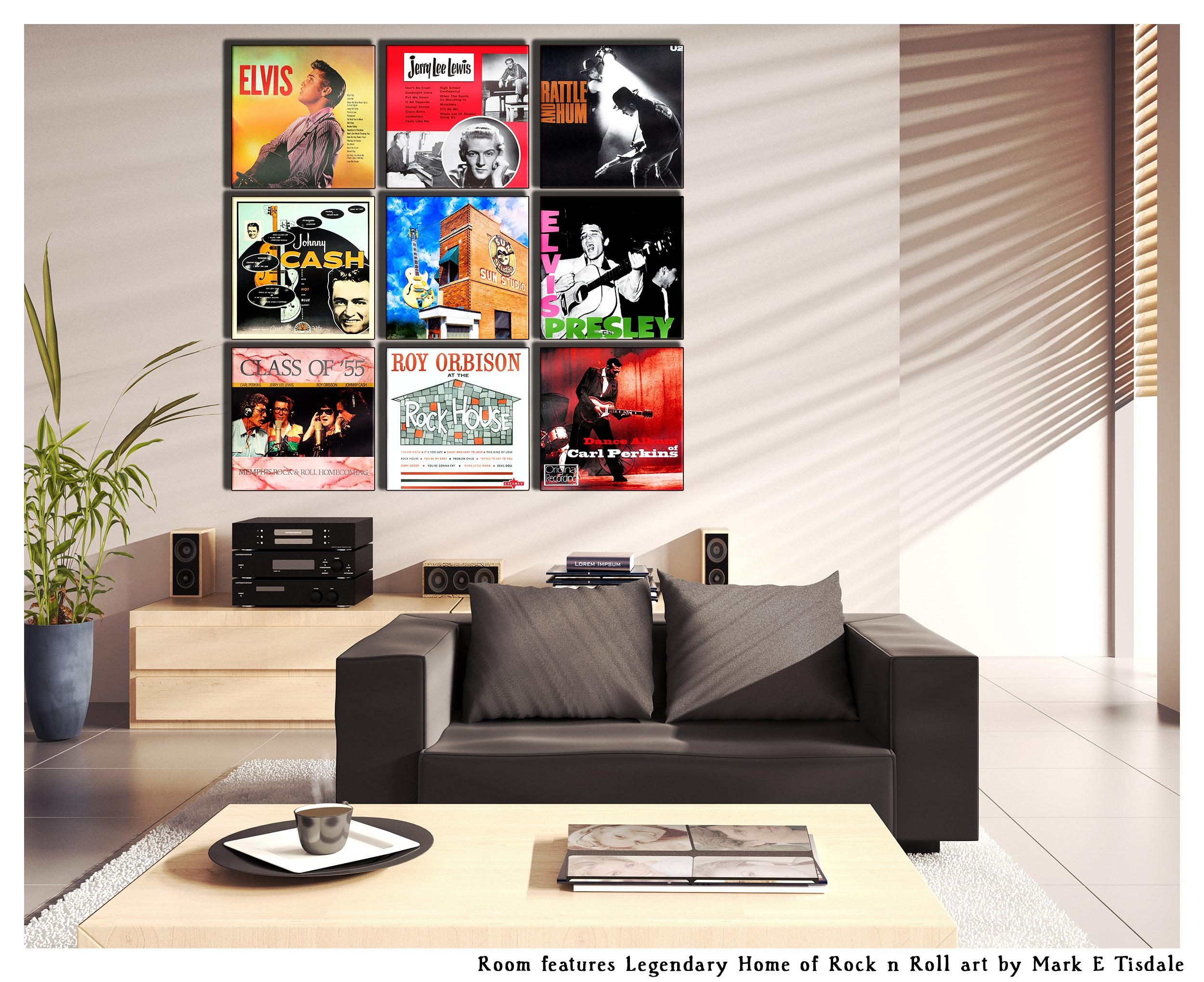 Album Cover Wall Art Display Ideas – Grouping With Art – Mark On Art Within Rock And Roll Wall Art (Image 1 of 20)
