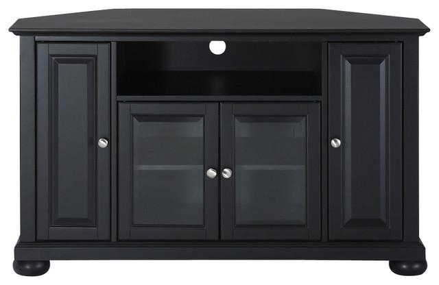 """Alexandria 48"""" Corner Tv Stand – Traditional – Entertainment Pertaining To Recent Black Wood Corner Tv Stands (View 7 of 20)"""