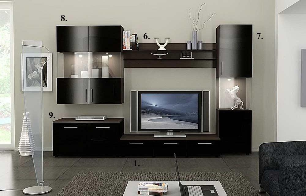 Alfredo Tv Stand Collection | Wall Units Regarding Latest Tv Stand Wall Units (Image 3 of 20)