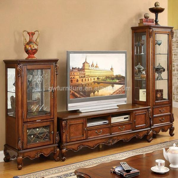 Alibaba Express Living Room Lcd Tv Stand Wooden Furniture A95 Throughout Newest Antique Style Tv Stands (View 10 of 20)