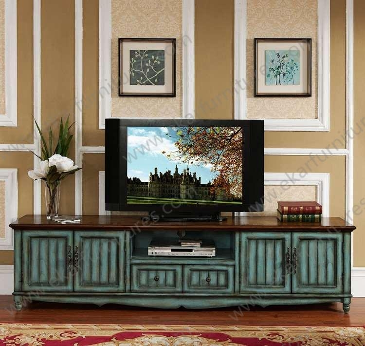 Alibaba Old Style Vintage Long Seafoam Green Tv Stand – Buy Tv Intended For Most Recent Antique Style Tv Stands (Image 3 of 20)