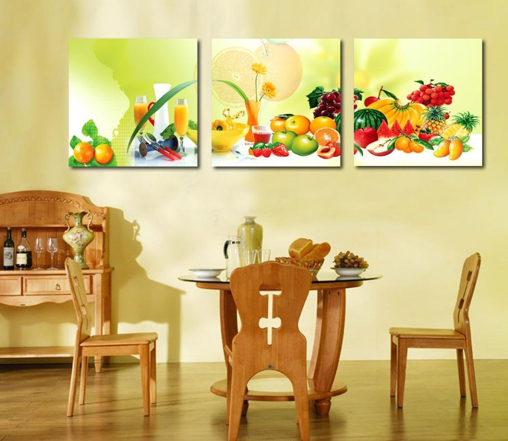 Aliexpress : Buy 3 Piece Canvas Art Home Decoration Wall Art Intended For Canvas Wall Art For Dining Room (View 4 of 20)
