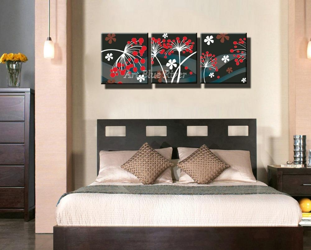 Aliexpress : Buy 3 Piece Cheap Hd Picture Prints Wall Art In 3 Piece Floral Wall Art (Image 3 of 20)