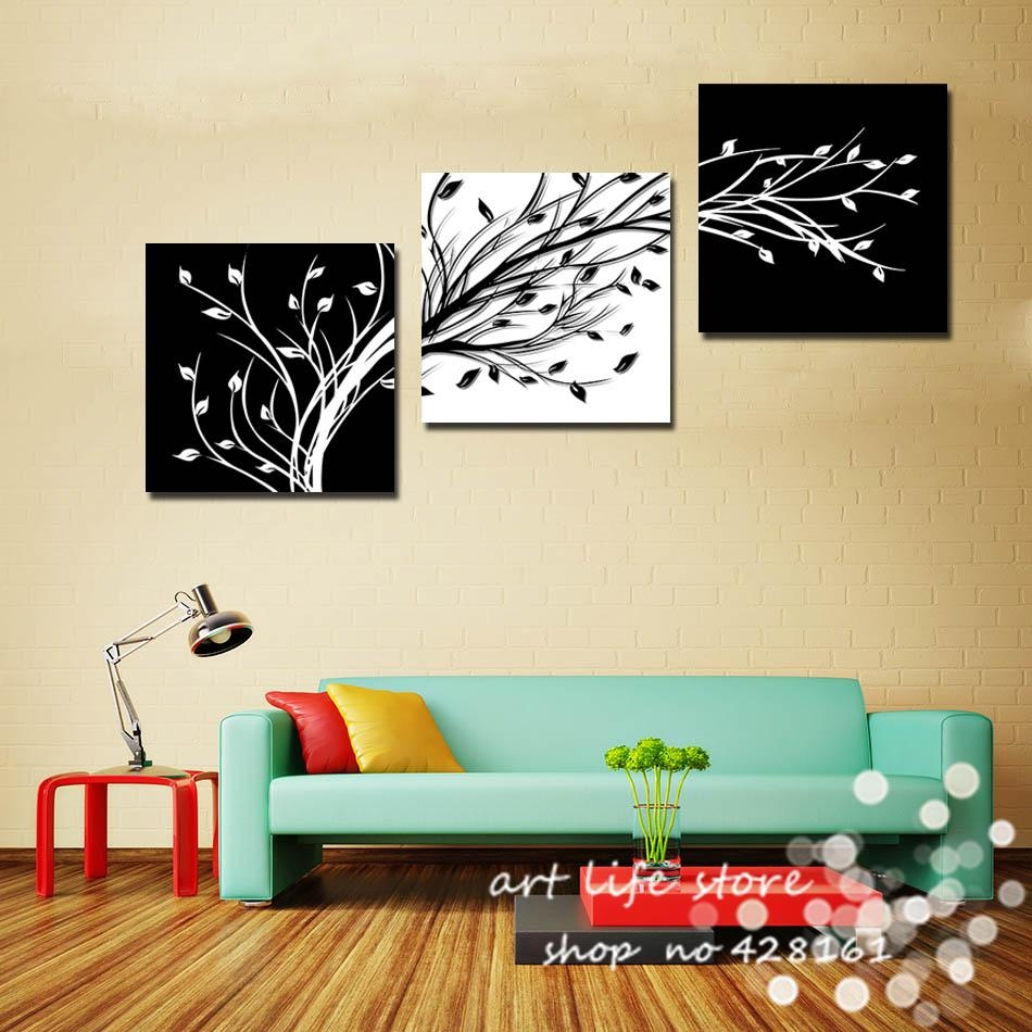 Aliexpress : Buy 3 Piece Wall Art Modern Abstract Large Cheap Intended For 3 Piece Floral Wall Art (Image 5 of 20)