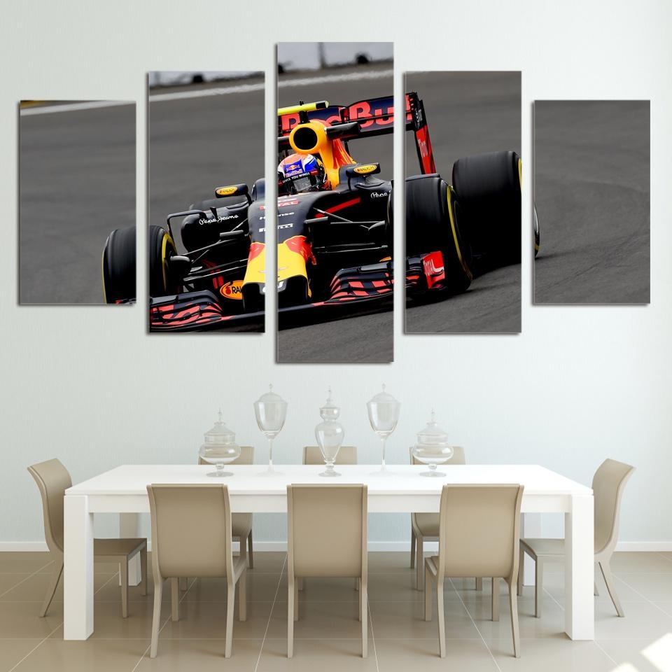 Aliexpress : Buy 5 Piece Canvas Prints Wall Art F1 Cycle Regarding Five Piece Wall Art (View 4 of 20)