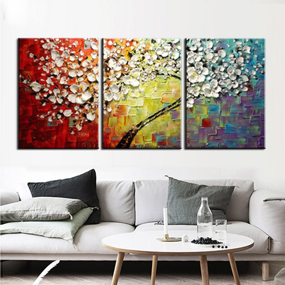 Aliexpress : Buy Acrylic Decorative High Quality 3 Piece With Three Piece Canvas Wall Art (Image 7 of 20)