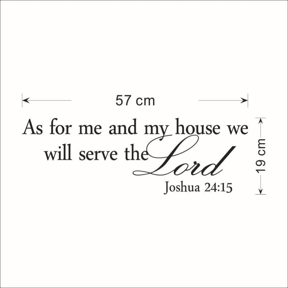 """Aliexpress : Buy """"as For Me And My House"""" Christian Quote Wall In As For Me And My House Vinyl Wall Art (Image 1 of 20)"""