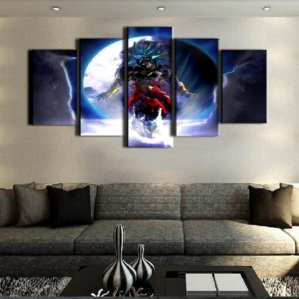 Aliexpress : Buy Atfipan Canvas Art Dragon Ball Cuadros With Five Piece Wall Art (View 12 of 20)
