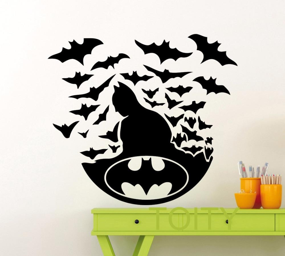 Aliexpress : Buy Batman Poster Black Wall Art Sticker Dark Intended For Superhero Wall Art Stickers (Image 1 of 20)