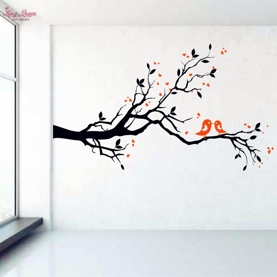 Aliexpress : Buy Birds On Tree Branch Vinyl Wall Decal Wall In Cherry Blossom Vinyl Wall Art (View 8 of 20)