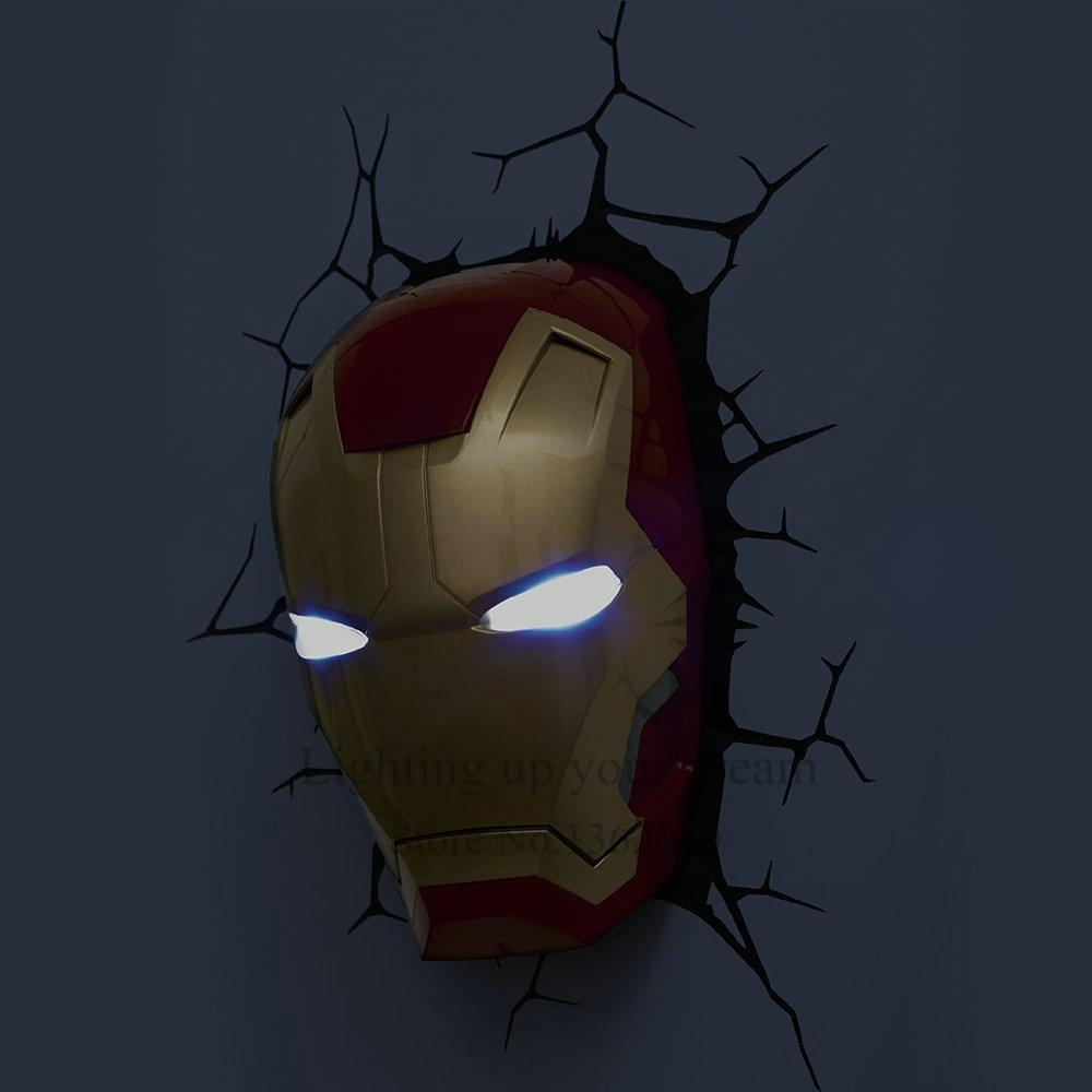 Aliexpress : Buy Creative Avengers Iron Man Hand Night Light In The Avengers 3D Wall Art Nightlight (Image 5 of 20)