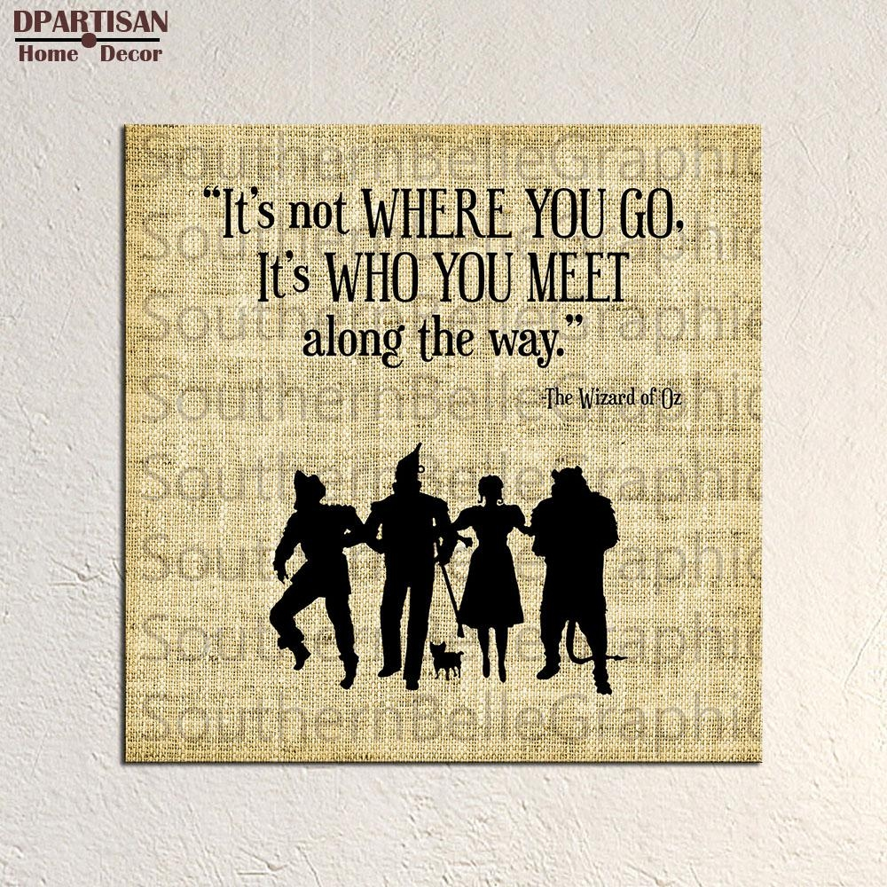 Aliexpress : Buy Dpartisan Wall Painting For Home Decoration For Wizard Of Oz Wall Art (Image 5 of 20)