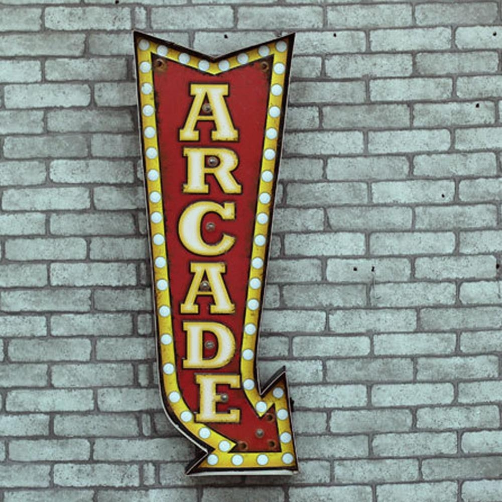 Aliexpress : Buy E Home Metal Wall Art Led Wall Decor,arcade In Arcade Wall Art (Image 1 of 20)
