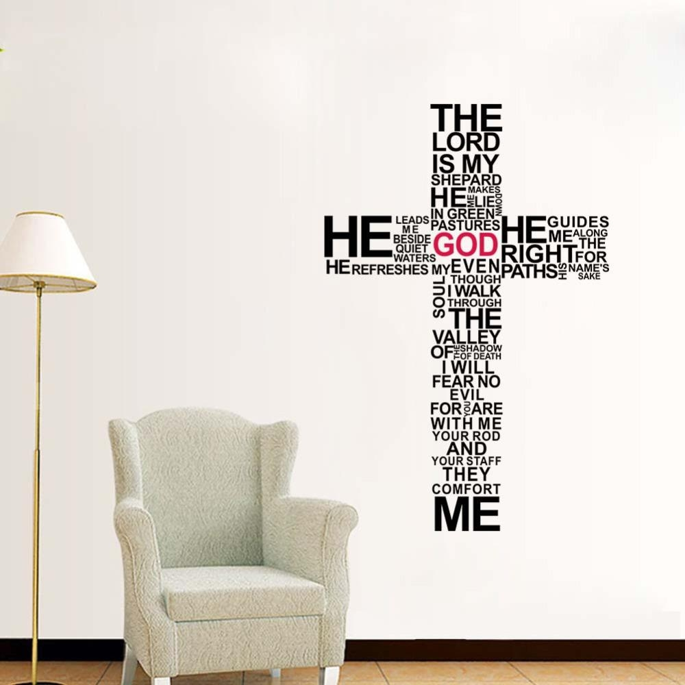 Aliexpress : Buy Factory Price Cartoon Typography Christian Intended For Biblical Wall Art (View 8 of 20)