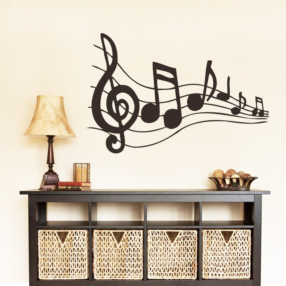 Aliexpress : Buy Free Shipping Music Note Wall Sticker Intended For Music Notes Wall Art Decals (View 11 of 20)