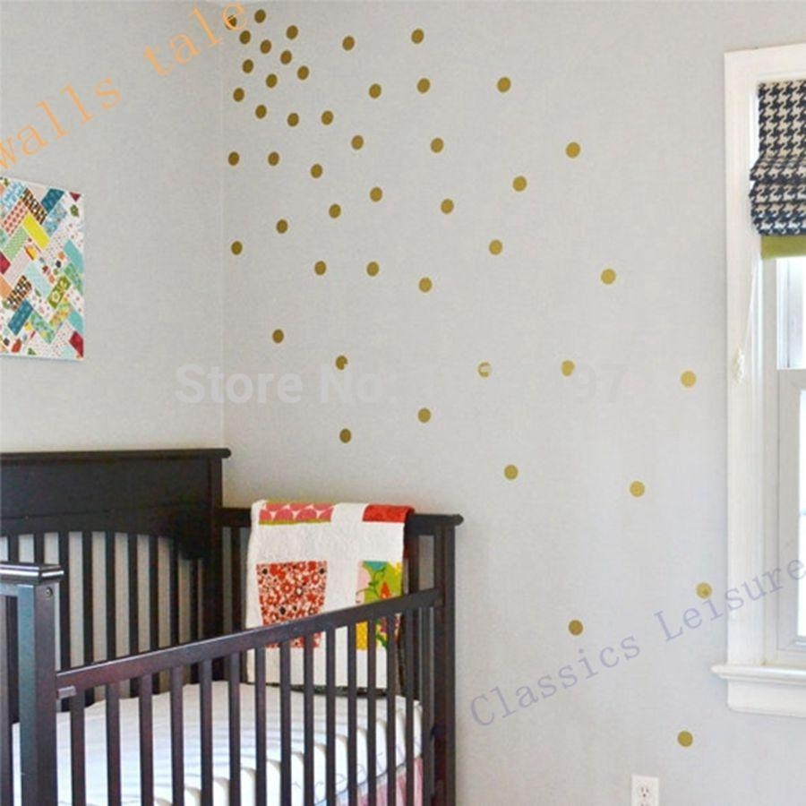 Aliexpress : Buy Free Shipping Variety Of Sizes Gold Vinyl Within Gold Wall Art Stickers (View 5 of 20)