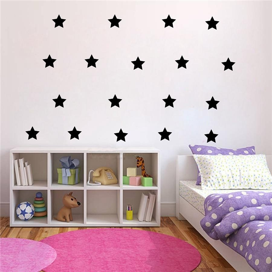 Aliexpress : Buy Gold Stars Wall Decal Vinyl Stickers Golden With Regard To Gold Wall Art Stickers (View 14 of 20)