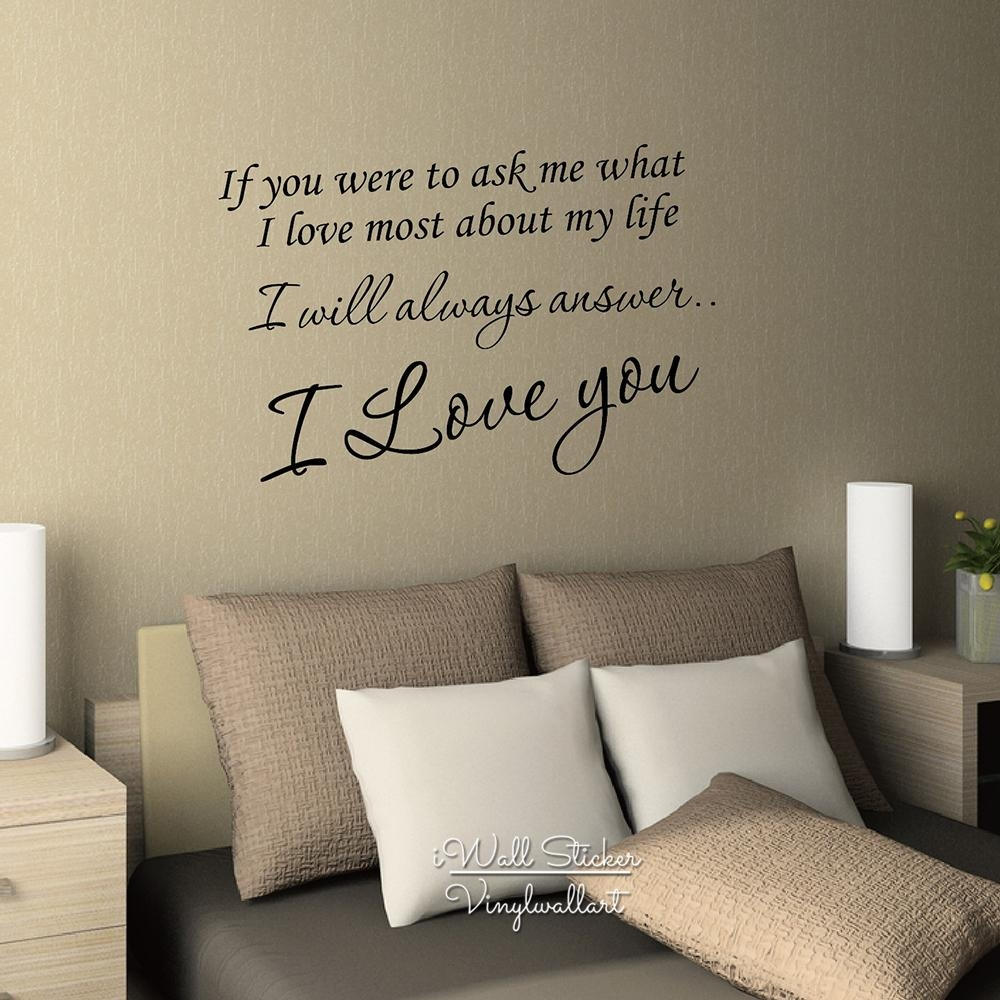 Aliexpress : Buy I Love You Quote Wall Sticker Love Quote Wall Throughout I Love You More Wall Art (View 14 of 20)