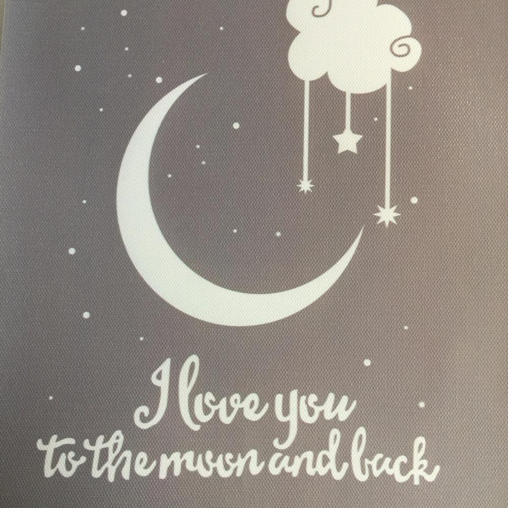 Aliexpress : Buy I Love You To The Moon And Back Classic Regarding Love You To The Moon And Back Wall Art (Image 2 of 20)