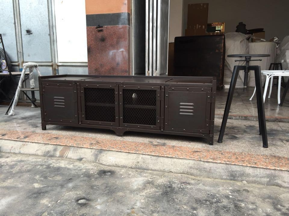 Aliexpress Buy Industrial Style American Iron Tv Cabi Tv Within Latest Industrial Tv Cabinets (Image 2 of 20)