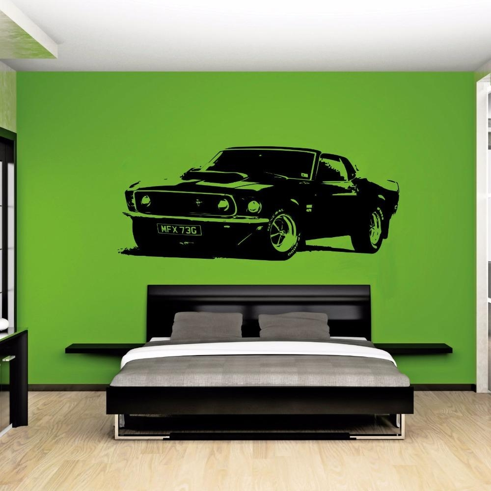 Aliexpress : Buy Large Car Sticker For Ford Mustang 1969 With Ford Mustang Metal Wall Art (Photo 6 of 20)