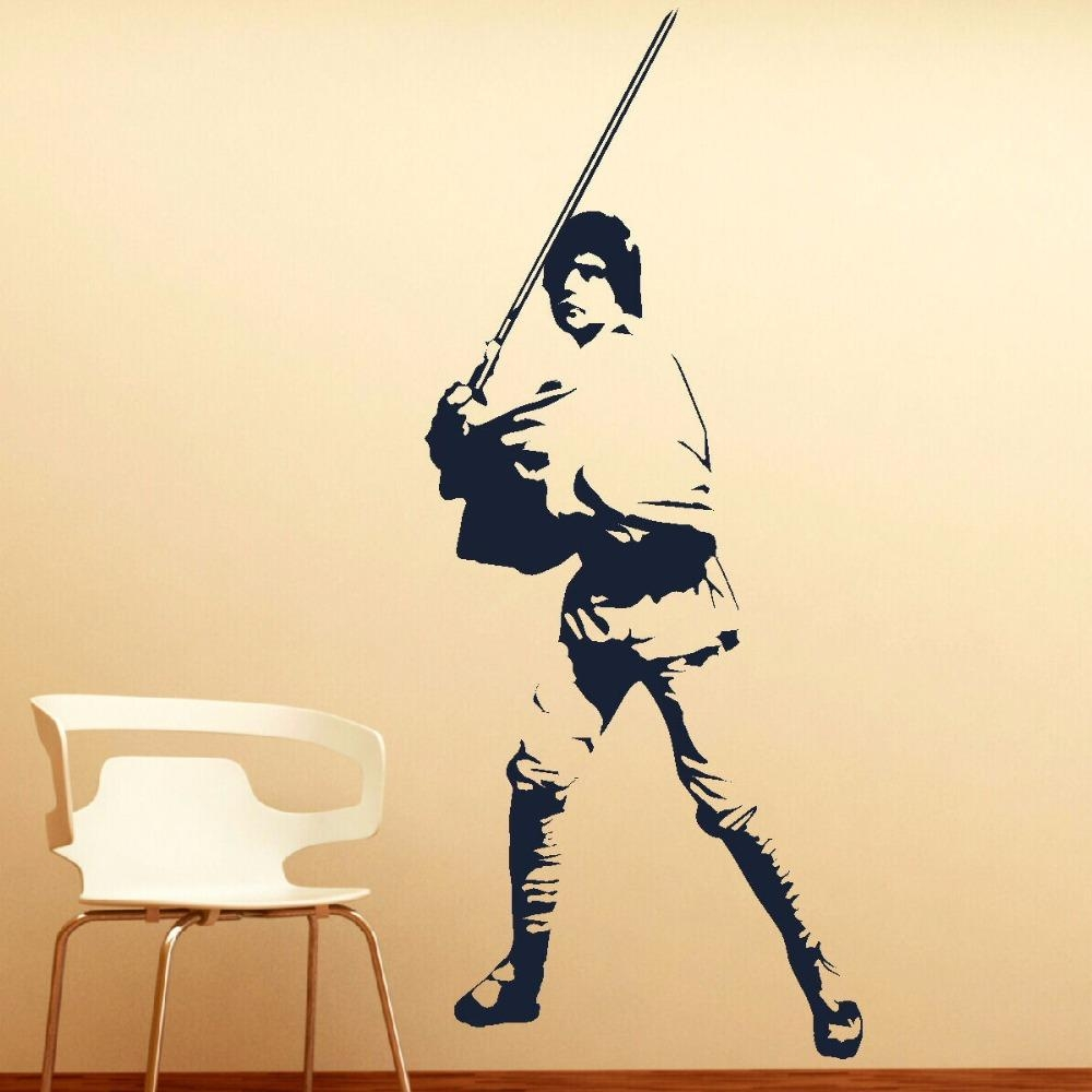 Aliexpress : Buy Large Luke Skywalker Star Wars Vinyl Self For Diy Star Wars Wall Art (View 17 of 20)