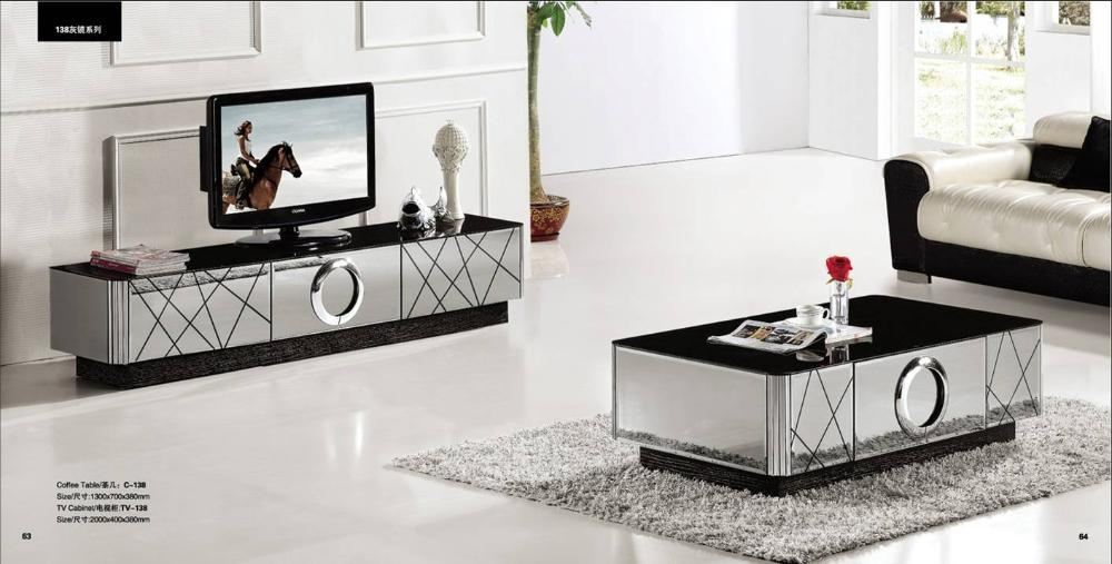 Aliexpress : Buy Modern Gray Mirror Modern Furniture, Coffee For Most Recently Released Tv Cabinet And Coffee Table Sets (Image 2 of 20)
