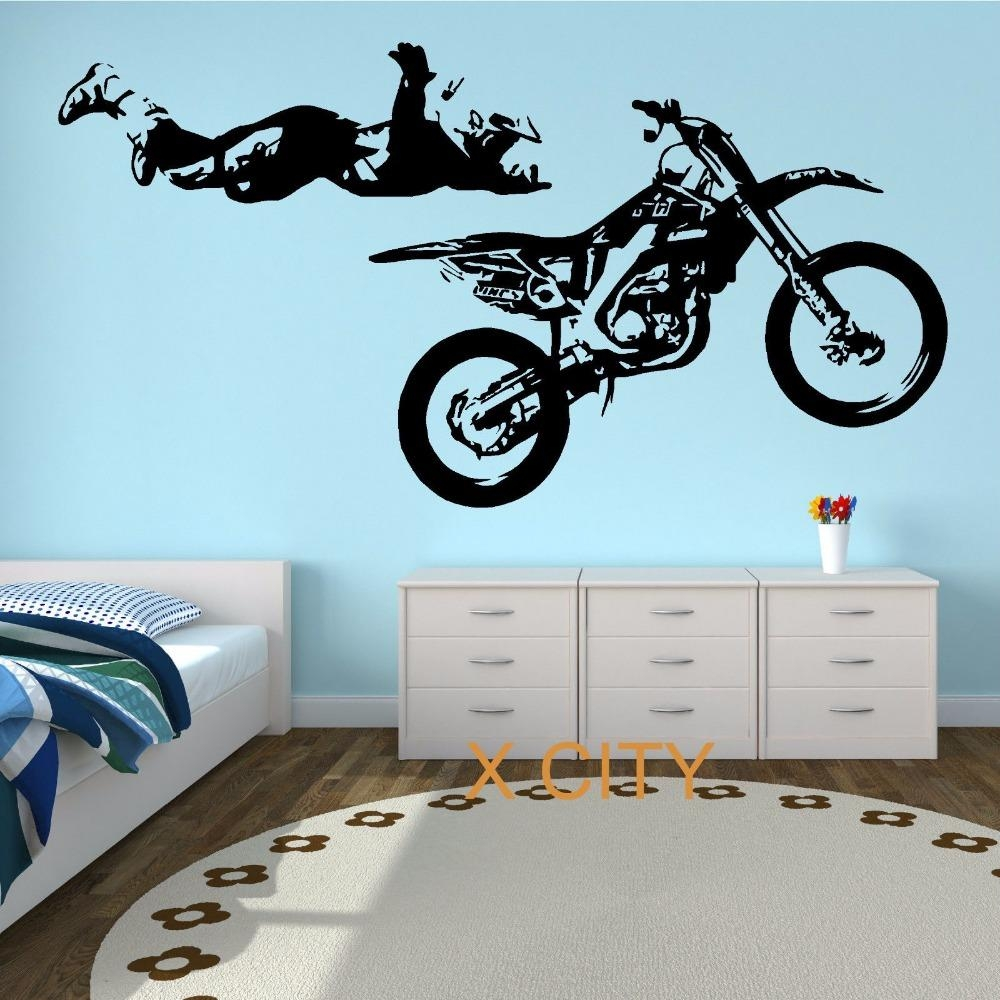 Aliexpress : Buy Motocross Stunt Motorbike Mx X Games Street For Street Wall Art Decals (Image 3 of 20)