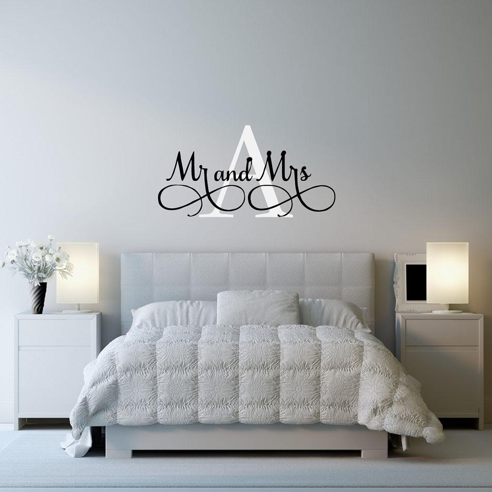 Aliexpress : Buy Mr & Mrs Wall Stickers Custom Name Vinyl Wall With Mr And Mrs Wall Art (Image 1 of 20)