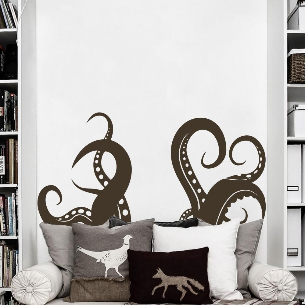 Aliexpress : Buy Octopus Tentacles Vinyl Wall Art Sea Animal In Octopus Tentacle Wall Art (View 16 of 20)