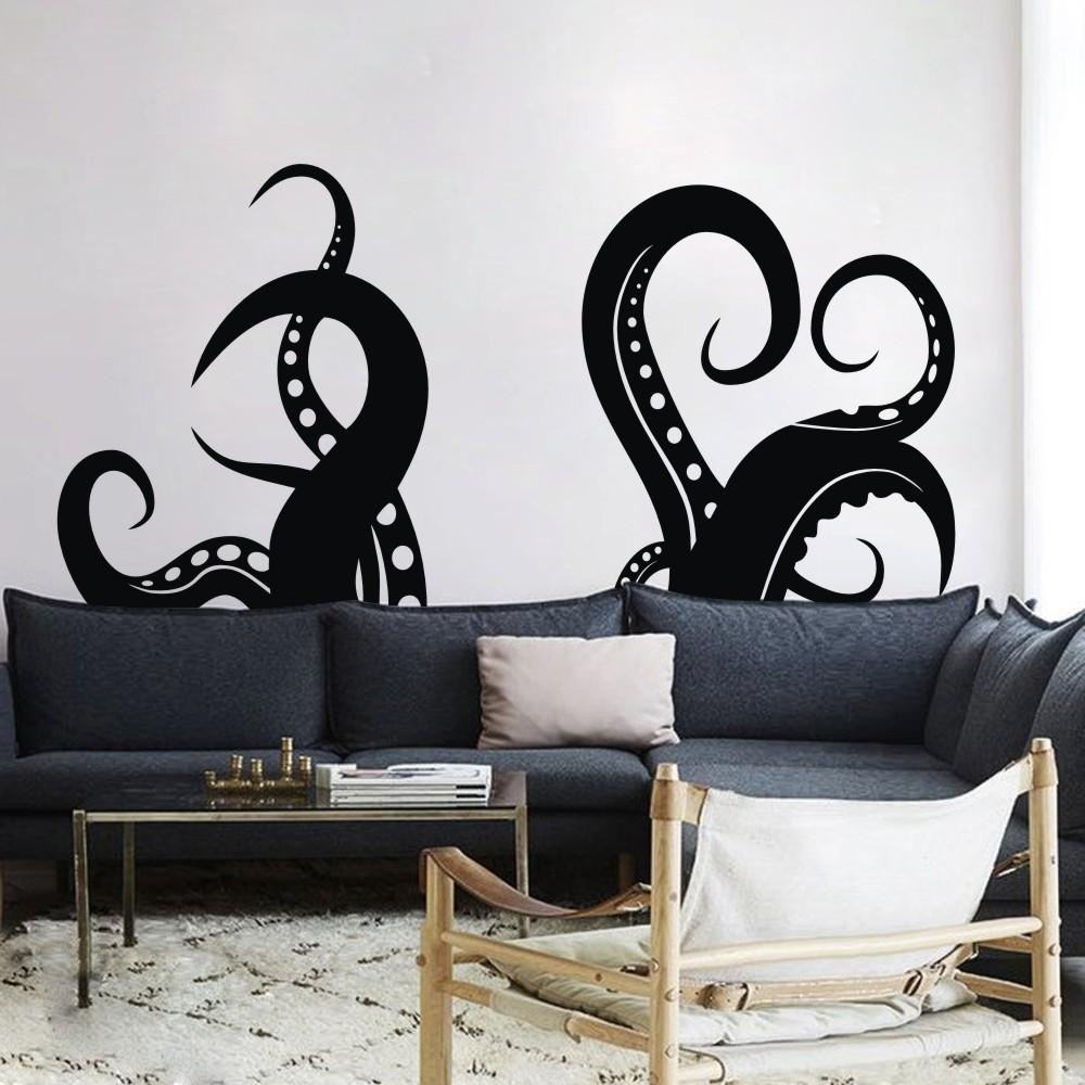 Aliexpress : Buy Octopus Tentacles Vinyl Wall Art Sea Animal Throughout Octopus Tentacle Wall Art (View 13 of 20)