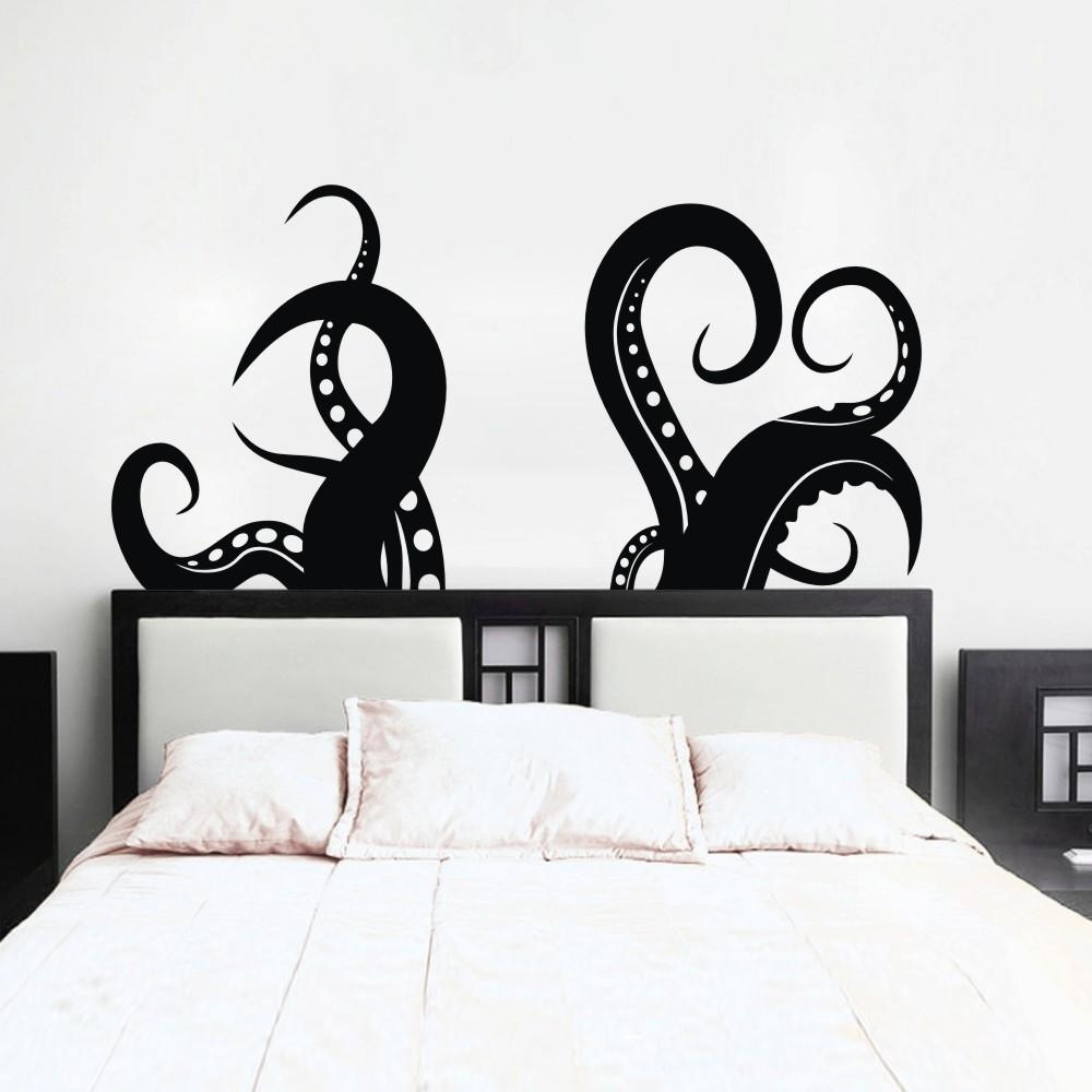 Aliexpress : Buy Octopus Tentacles Vinyl Wall Art Sea Animal Within Octopus Tentacle Wall Art (View 10 of 20)
