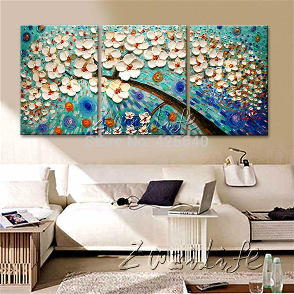 Aliexpress : Buy Oil Painting 3 Panel 3 Piece Canvas Cuadros regarding Three Piece Canvas Wall Art