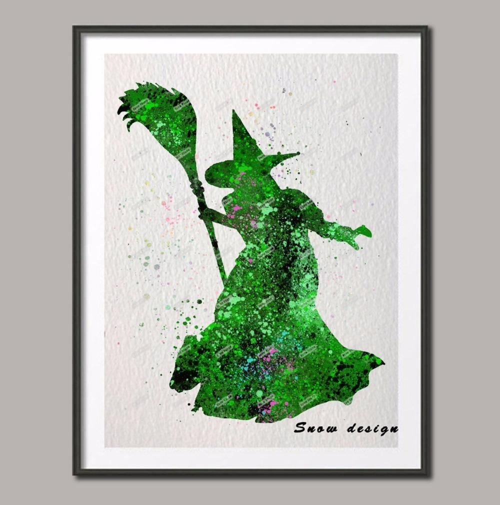 Aliexpress : Buy Original Watercolor The Wizard Of Oz Wicked For Wizard Of Oz Wall Art (Image 6 of 20)