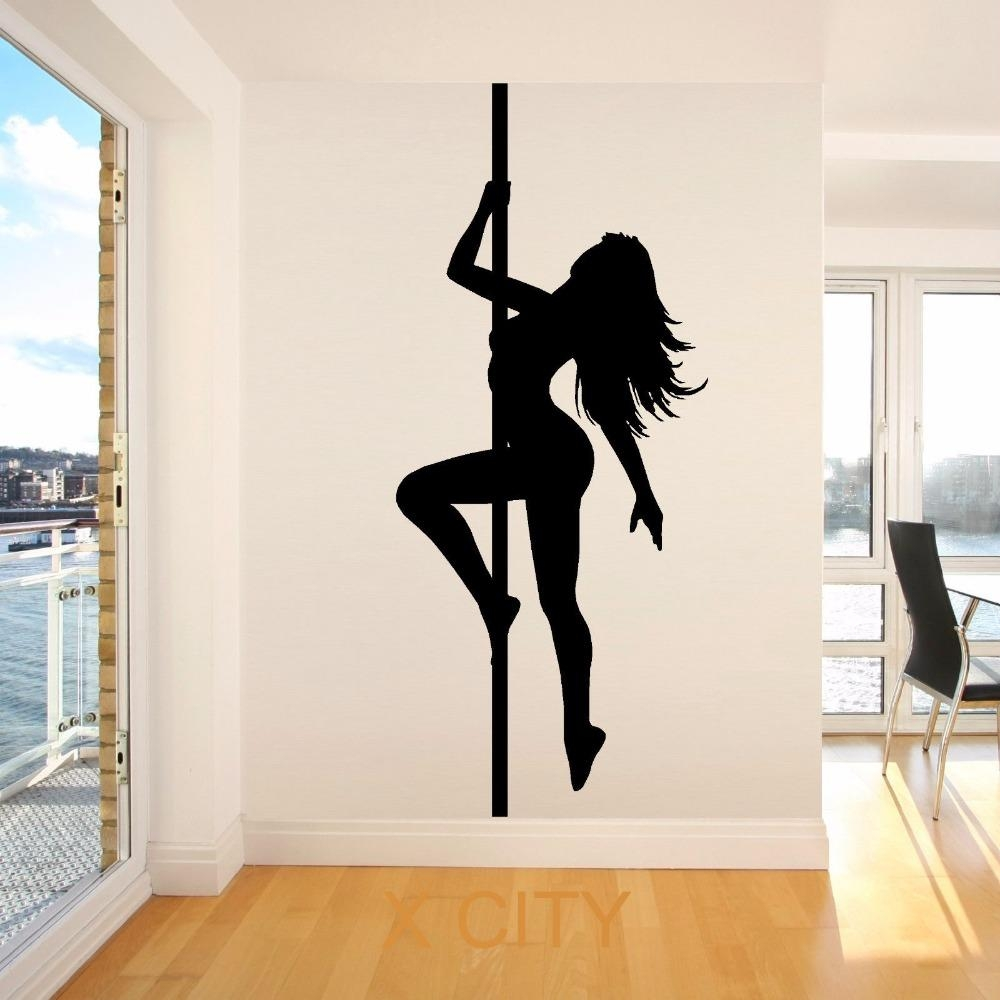 Aliexpress : Buy Pole Dancer Sexy Lady Vinyl Wall Art Room Intended For Led Zeppelin Wall Art (Image 1 of 20)