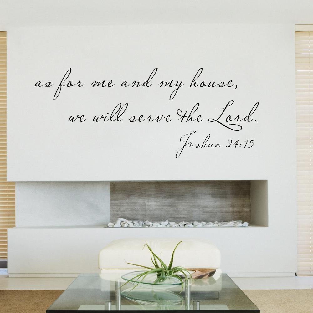 Aliexpress : Buy Scripture Wall Decal As For Me And My House Throughout As For Me And My House Vinyl Wall Art (Image 2 of 20)