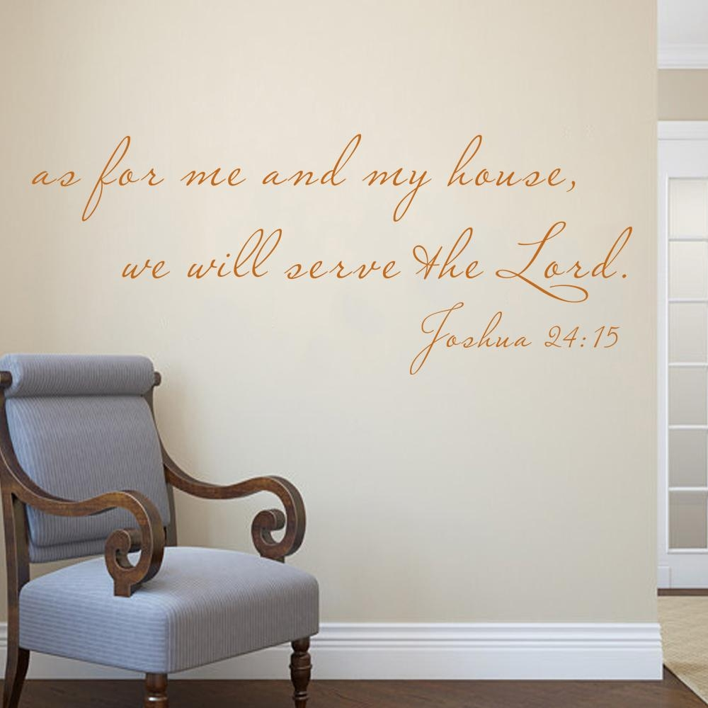 Aliexpress : Buy Scripture Wall Decal As For Me And My House With As For Me And My House Vinyl Wall Art (View 15 of 20)