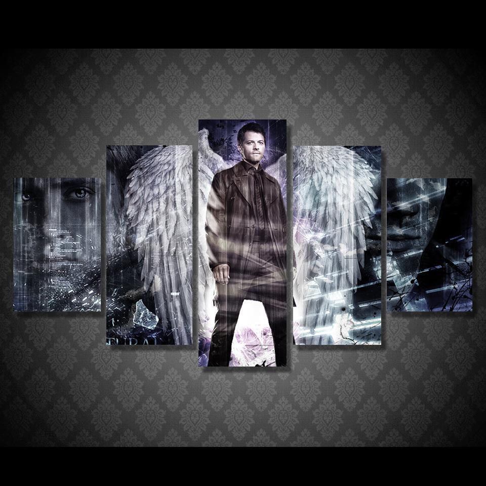 Aliexpress : Buy Spn Supernatural Tv Drama Program Wall Art In Supernatural Wall Art (View 2 of 20)