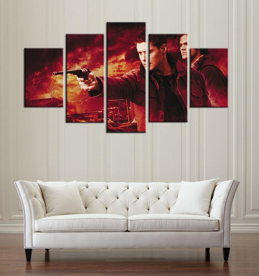 Aliexpress : Buy Spn Supernatural Tv Drama Program Wall Art Regarding Supernatural Wall Art (Image 3 of 20)
