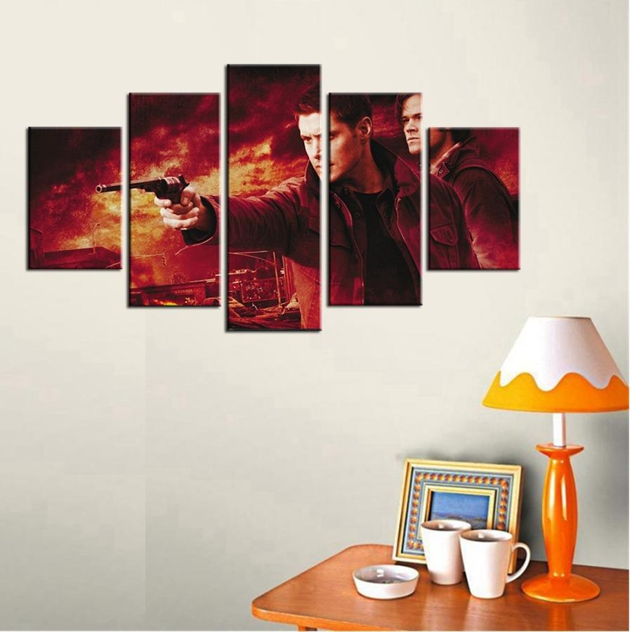 Aliexpress : Buy Spn Supernatural Tv Drama Program Wall Art Within Supernatural Wall Art (Image 5 of 20)