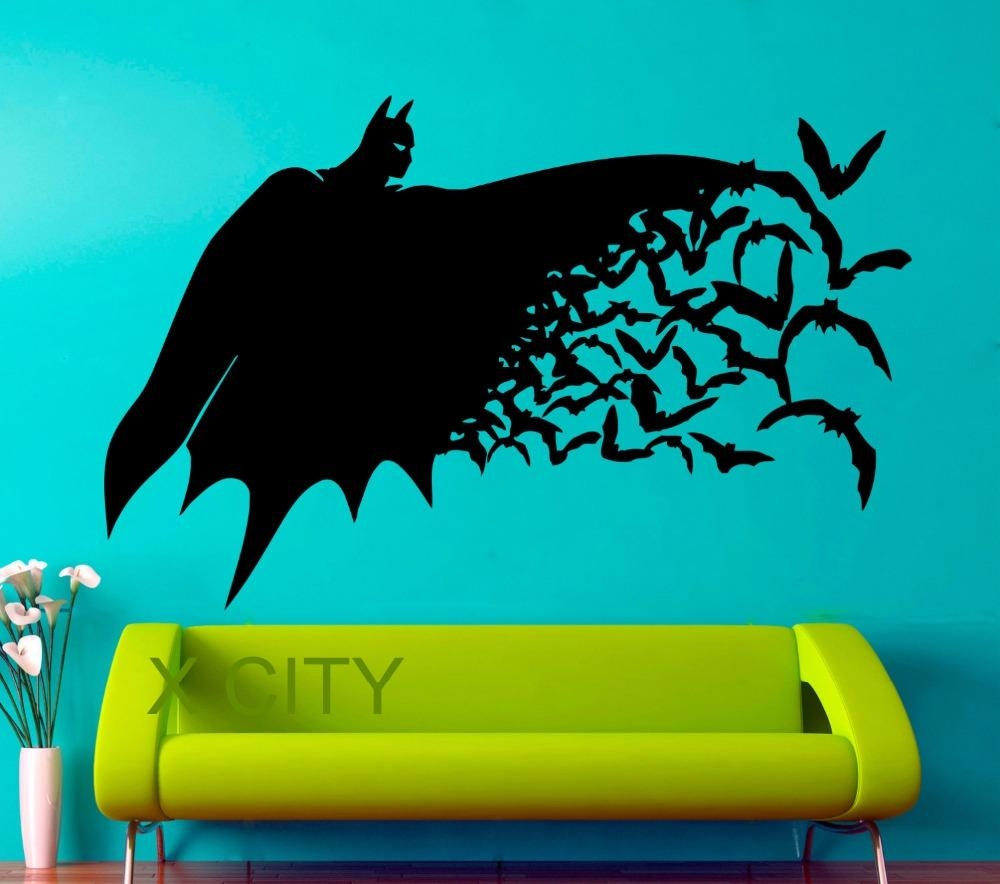 Aliexpress : Buy Superhero Batman Movie Poster Dark Knight Pop Inside Superhero Wall Art Stickers (Image 3 of 20)