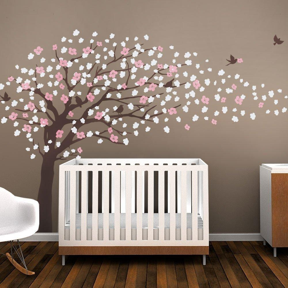 Aliexpress : Buy W093 Cherry Blossom Tree For Nursery In Cherry Blossom Vinyl Wall Art (View 10 of 20)