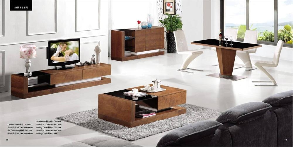Aliexpress : Buy Wood Furniture Living Room Furntiure Set For Most Recently Released Tv Cabinet And Coffee Table Sets (Image 3 of 20)