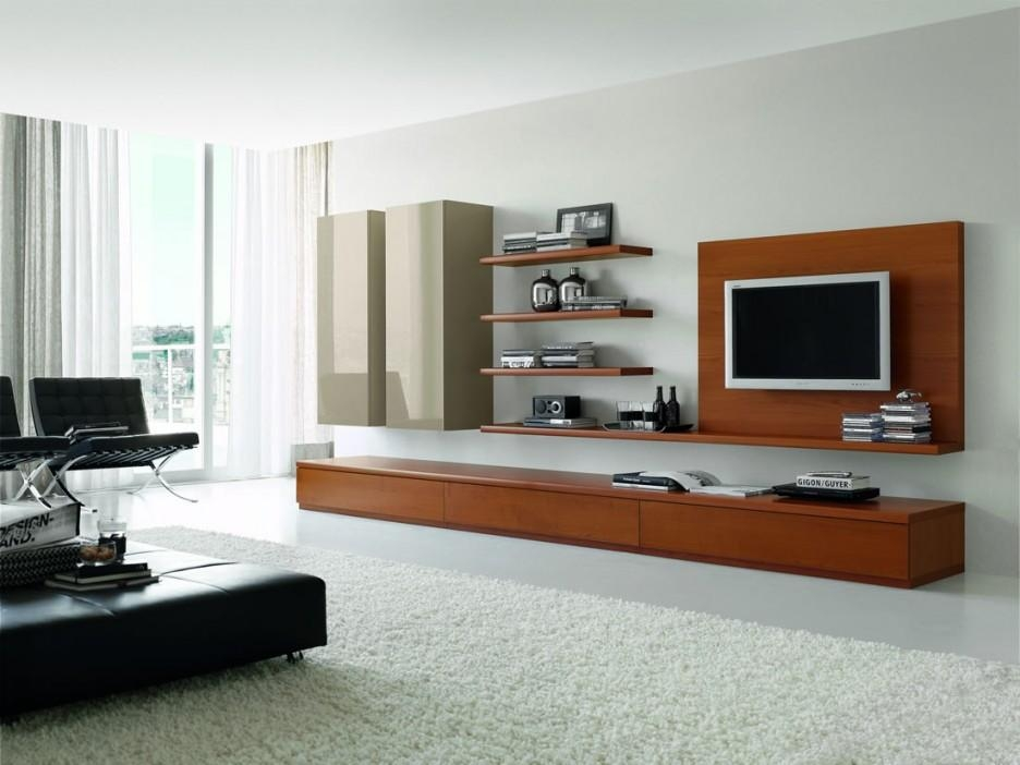Alluring Modern Entertainment Unit Presenting Compact Wooden Wall Inside Most Recently Released Modular Tv Stands Furniture (Image 3 of 20)