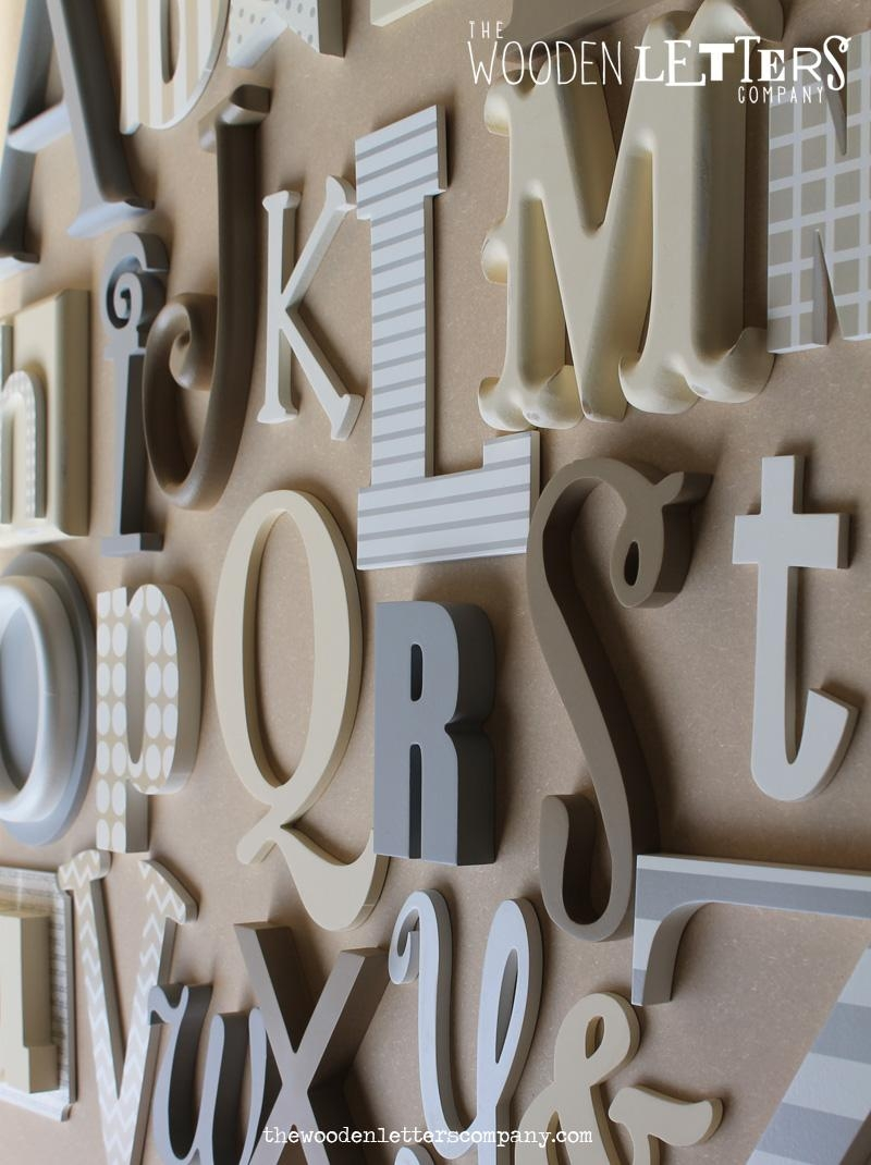Alphabet Letters For Design Inspiration Letter Wall Art – Home Inside Decorative Initials Wall Art (Image 2 of 20)