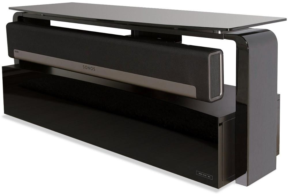 Alphason As9001 Sonos Playbar Tv Stand – Black – Buy Online Today Within Latest Sonos Tv Stands (Image 2 of 20)