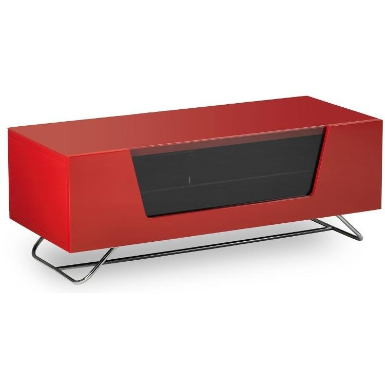Alphason Chromium 2 Tv Stand Cro2 1000Cb Red Red Gloss Tv Cabinet Throughout Current Red Gloss Tv Cabinet (Image 1 of 20)